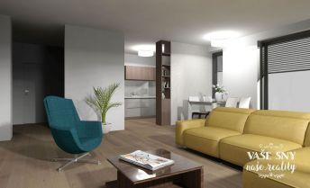 Priestranný 2 izbový byt s  veľkou terasou v centre mesta Nové Mesto nad Váhom plus garáž v novostavbe bytového domu