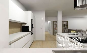 3 izbový byt s terasou v centre mesta Nové Mesto nad Váhom a podzemnou garážou v novostavbe bytového domu