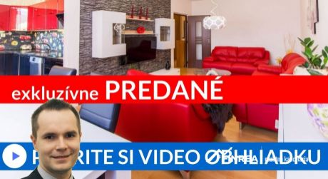 PREDANÉ EXKLUZÍVNE priestranný 3i byt s 2 balkónmi Ružomberok - Bystrická cesta