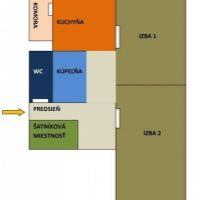 2 izbový byt, Zlaté Moravce, 68 m², Čiastočná rekonštrukcia