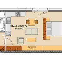 1 izbový byt, Bratislava-Ružinov, 49 m², Vo výstavbe