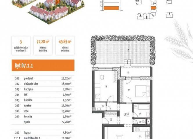 3 izbový byt - Zavar - Fotografia 1