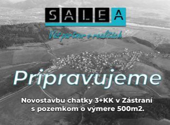 NOVÁ CHATA 3+KK S POZEMKOM O VÝMERE 512m2, ŽILINA - ZÁSTRANIE