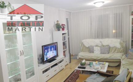 EXKLUZÍVNE! 3. - izbový byt 71 m2 s loggiou, kompletná rekonštrukcia, zariadený, Vrútky-centrum