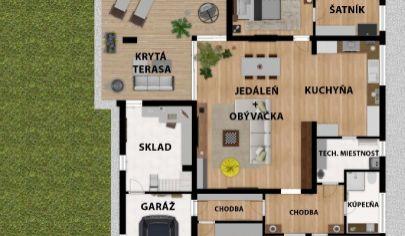 Na predaj rozostavaný samostatne stojaci 4 izbový rodinný dom - Veľký Grob