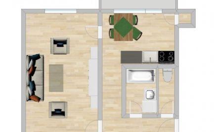 VEĽKÝ 1 IZBOVÝ BYT 41 m² S BALKÓNOM A KOMOROU