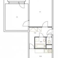 2 izbový byt, Nové Zámky, 55 m², Čiastočná rekonštrukcia