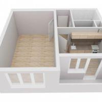 1 izbový byt, Martin, 43 m², Čiastočná rekonštrukcia