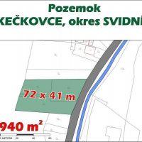 Pre rodinné domy, Kečkovce, 2940 m²