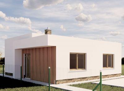 Ponúkame na predaj NOVOSTAVBU : Rodinného domu IVB Nové Rišňovce časť SALAŠE . Posledný 3 izbový - Bungalov