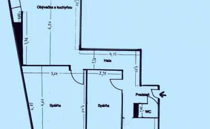 GRÖSSLINGOVA – 3i BYT s BALKÓNOM po kompletnej rekonštrukcii v CENTRE MESTA