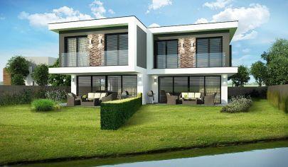 Na predaj krásna 5i novostavba RD, PRIAMO PRI JAZERE, v golfovom areáli Green Resort Hrubá Borša, výhľad na golfové ihrisko