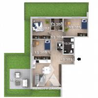 4 izbový byt, Kvetoslavov, 119.62 m², Vo výstavbe