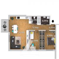 3 izbový byt, Kvetoslavov, 85.61 m², Vo výstavbe