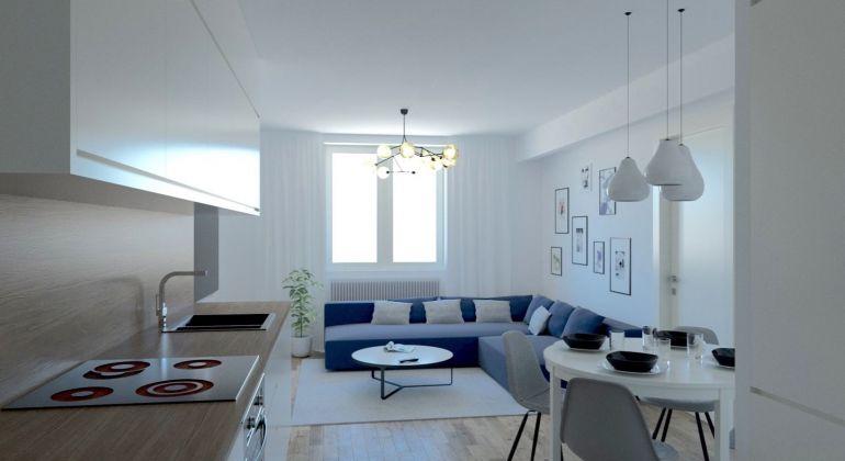Nový 4 izbový byt s dvomi kúpeľňami v centre mesta na Mýtnej ulici