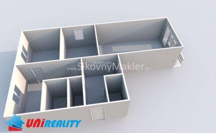 BÁNOVCE NAD BEBRAVOU - 3 izbový byt / Kukučínova / plastové okná