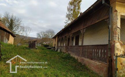 Menší domček 7 km od Rožňavy