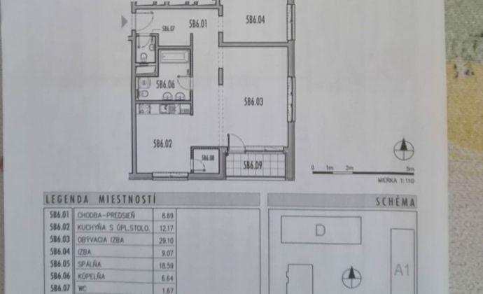 3 izbový byt v RETRE s loggiou