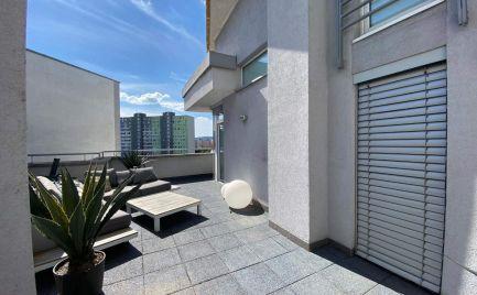 Ponúkame na prenájom 2-izbový mezonetový byt s terasou /40m2/ na Zadunajskej ceste oproti Auparku, lokalita BA V.-Petržalka