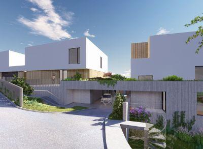 Komfort a estetiku ponúka súbor 5 poschodových vil v rôznych obmenách nad hradom s výťahom pre náročného klienta.