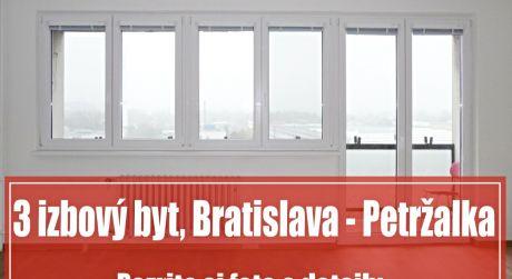 Na prenájom priestranný 3 izbový byt blízko centra Bratislavy