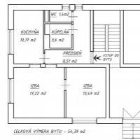 2 izbový byt, Považská Bystrica, 61 m², Pôvodný stav