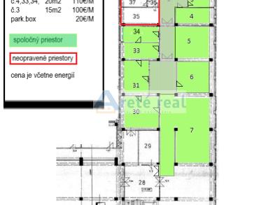 Arete real- prenájom  prevádzkových, kancelárskych priestorov v Modre