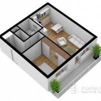 2 izbový byt, Poprad, 51 m², Novostavba