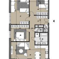 4 izbový byt, Žilina, 126 m², Vo výstavbe