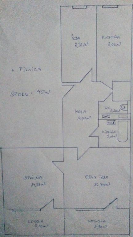 3-izbový byt-Predaj-Bratislava - mestská časť Petržalka-168000.00 €