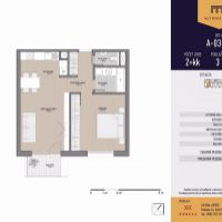 2 izbový byt, Košice-Staré Mesto, 53.61 m², Novostavba