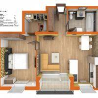 2 izbový byt, Dunajská Streda, 64 m², Pôvodný stav