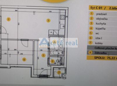 Areté real, Predaj novostavby 2- izbového bytu v tesnej blízkosti centra mesta Pezinok - NOVÁ ETAPA