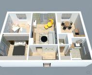 Priestranný trojizbový byt s dvomi balkónmi