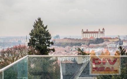 7 izbový byt, Slavín, Bratislava Staré Mesto, dve samostatné bytové jednotky, terasy s nádherným výhľadom na predaj