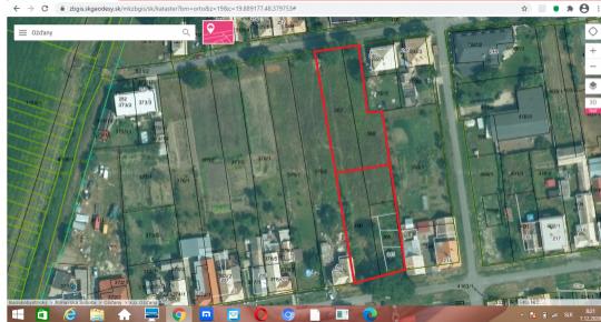 Predám stavebné pozemky v Oždanoch