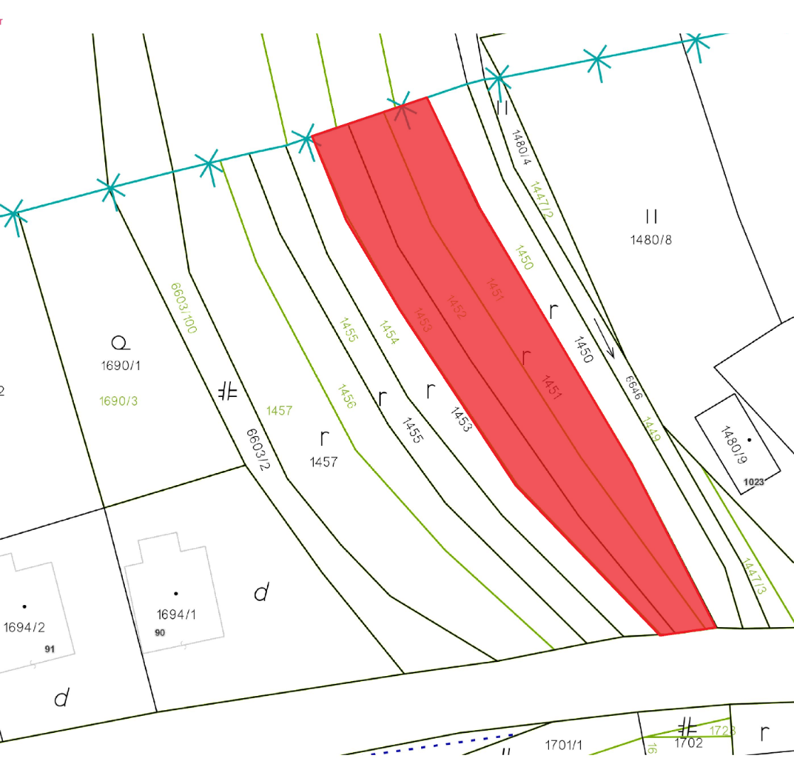 PREDANÉ pozemok Tvarožná, rozloha 766 m2, slnečný - 5
