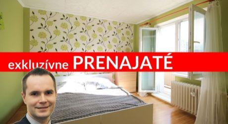 EXKLUZÍVNE 3i byt v obľúbenej lokalite Bysterec s TV a internetom
