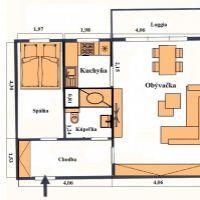 2 izbový byt, Bratislava-Petržalka, 53 m², Pôvodný stav