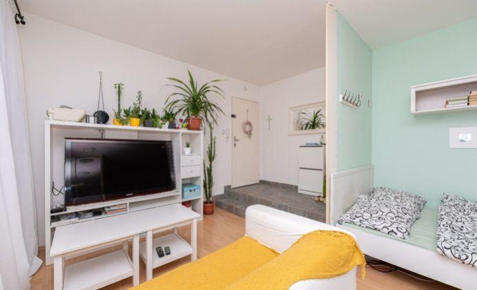 Mestský byt - atypická veľkometrážna zariadená garsónka - 29,05 m2 - centrum BA, pri YMCE a trhovisku Žilinská