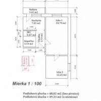 2 izbový byt, Rožňava, 1 m², Pôvodný stav