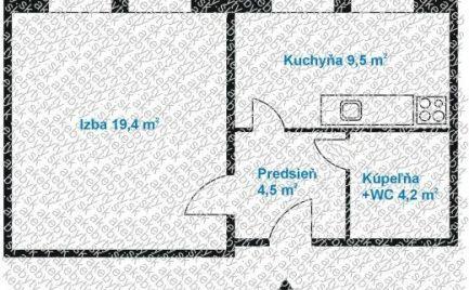 FEDINOVA  - 1i ZARIADENÝ byt pri PLAVÁRNI v PETRŽALKE