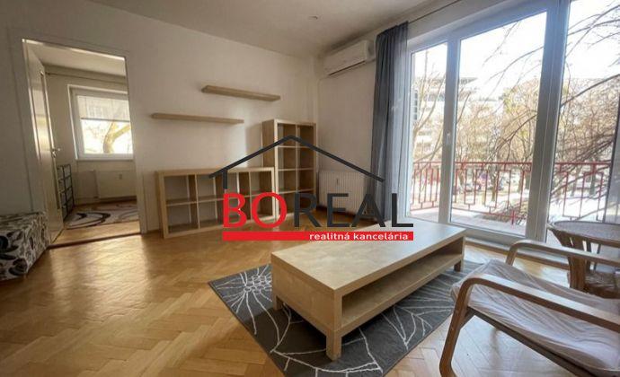 Tehlový 2izb. byt, 58,70 m2 s dvoma balkónmi, Jelačičova ul., Bratislava II. na prenájom