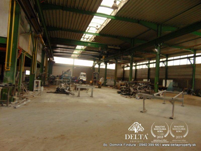 DELTA - Výrobné haly, sklady a administratívna budova na predaj Veľký Slavkov