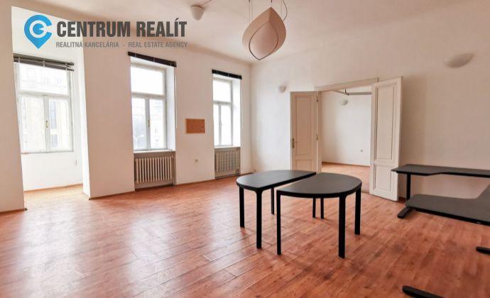 Reprezentatívne kancelárske priestory v centre Bratislavy, 118 m2, Šafarikovo nám., BAI- Staré Mesto