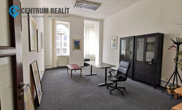 Reprezentatívne kancelárske priestory v centre Bratislavy, 107 m2, Šafarikovo nám., BAI- Staré Mesto