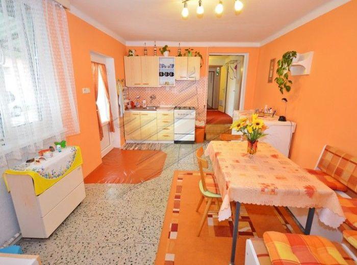 PREDANÉ - POVODA, rodinný dom, 173 m2 - s NOVOU STRECHOU a PLASTOVÝMI OKNAMI na krásnom pozemku s parkovou úpravou 825 m2, NA SKOK OD D. STREDY