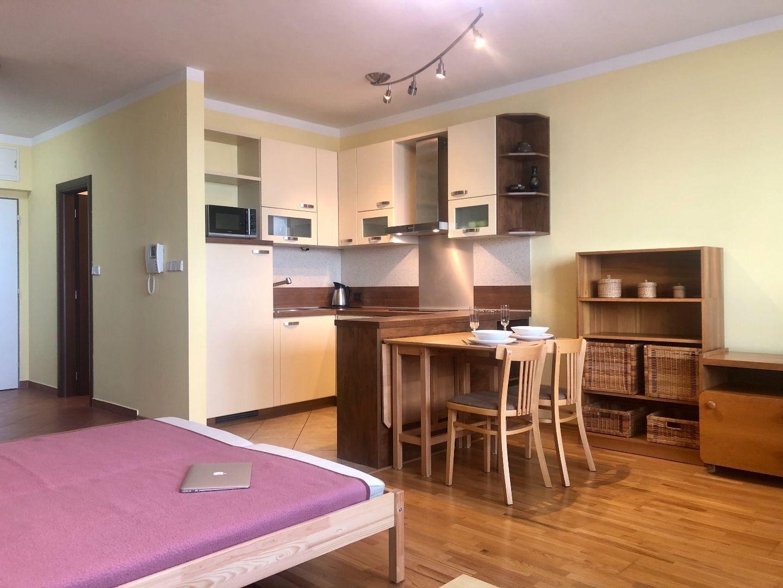 1-izbový byt-Prenájom-Bratislava - mestská časť Nové Mesto-350.00 €