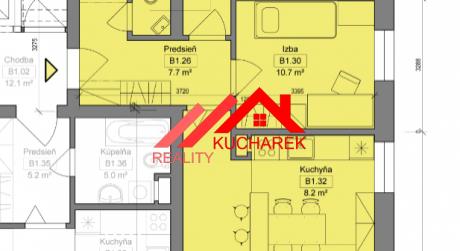 Kuchárek-real: Novostavba -3-izbový byt v Pezinku na Muškáte  D5-B-106.