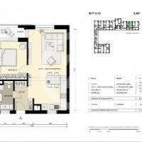 2 izbový byt, Košice-Staré Mesto, 54 m², Novostavba